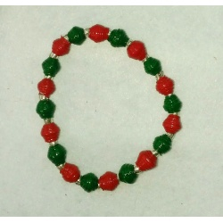 #211 Christmas Green & Red 8""